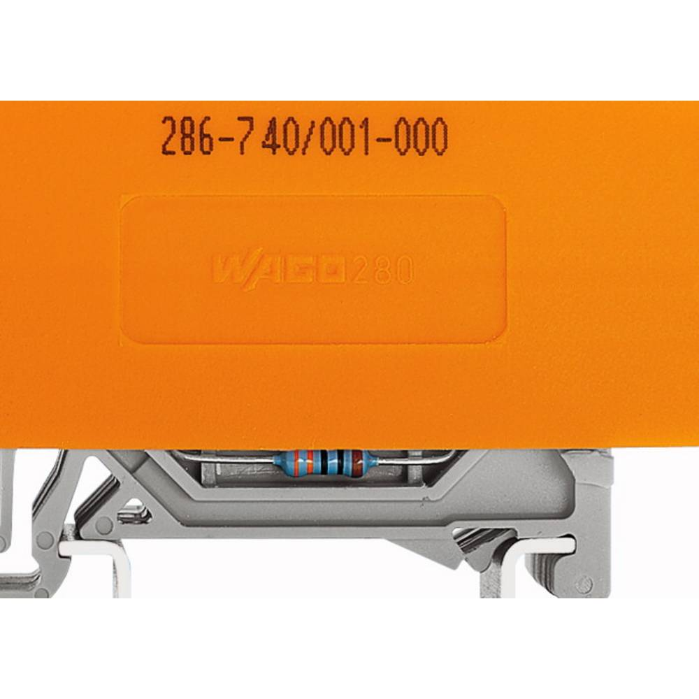 Relæsokkel 20 stk WAGO 286-740/001-000 (L x B x H) 73 x 22 x 28 mm