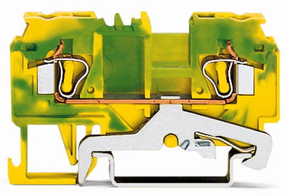 Jordklemme 5 mm Trækfjeder Belægning: Terre Grøn-gul WAGO 880-907 100 stk