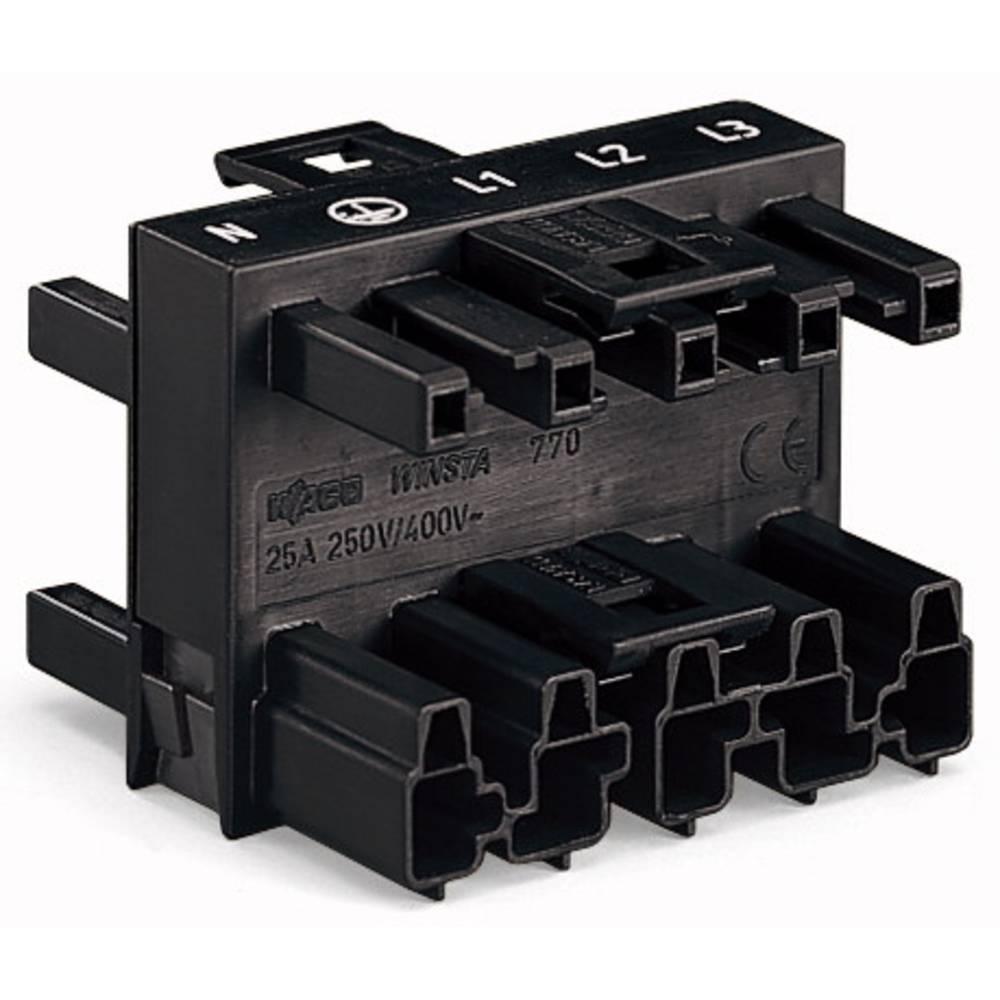 Strømforsyningsfordeler WAGO Samlet poltal 5 Sort 25 stk