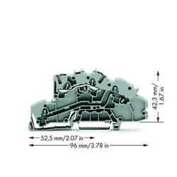 installations-etageklemme 5.20 mm Trækfjeder Belægning: L Grå WAGO 2003-7650 50 stk