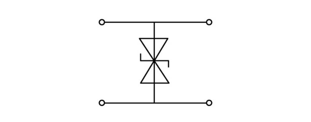 Dobbeltlags diodeklemme 10 mm Trækfjeder Belægning: L Grå WAGO 280-944/281-590 50 stk