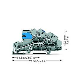 installations-etageklemme 5.20 mm Trækfjeder Belægning: NT, L Grå WAGO 2003-7640 50 stk