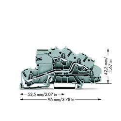 installations-etageklemme 5.20 mm Trækfjeder Belægning: LT, L Grå WAGO 2003-7659 50 stk