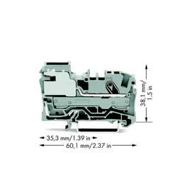 Potentialklemme 7.50 mm Trækfjeder Grå WAGO 2006-7111 50 stk