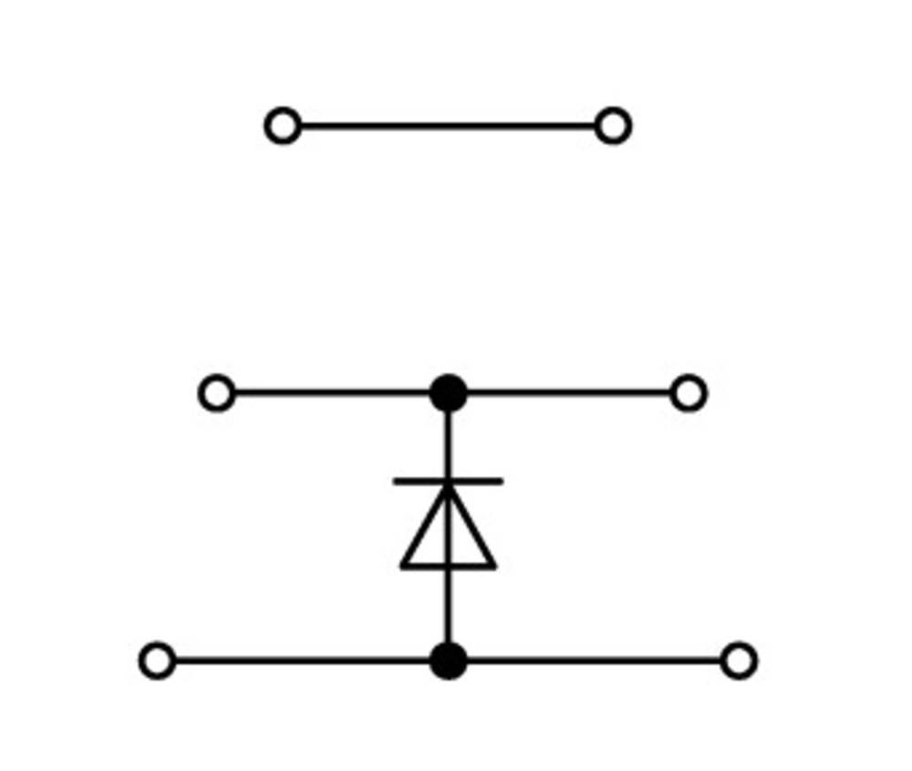 Trippel-diodeklemme 5 mm Trækfjeder Belægning: L Grå WAGO 870-590/281-675 50 stk
