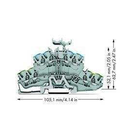 Dobbeltlags-beskyttelseslederklemme 5.20 mm Trækfjeder Belægning: Terre, N Grå WAGO 2002-2447 50 stk