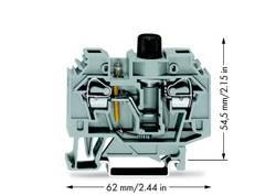 Sikringsklemme 13 mm Trækfjeder Belægning: L Grå WAGO 282-124 40 stk