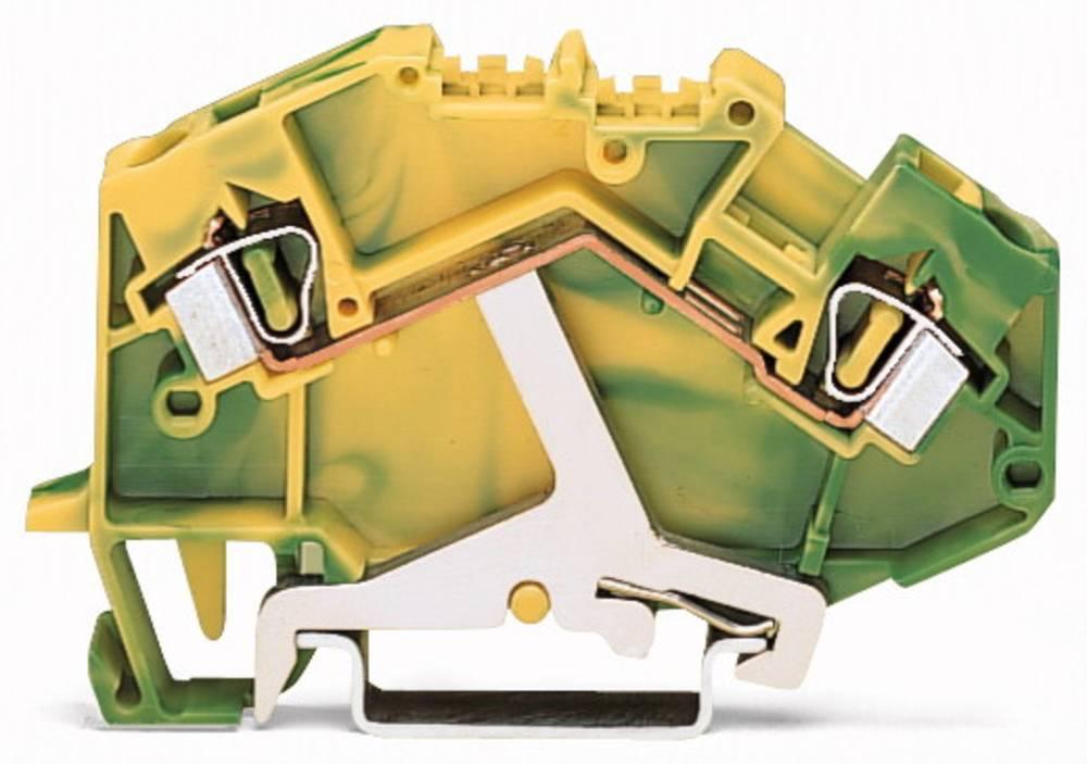 Jordklemme 6 mm Trækfjeder Belægning: Terre Grøn-gul WAGO 781-607/999-950 50 stk