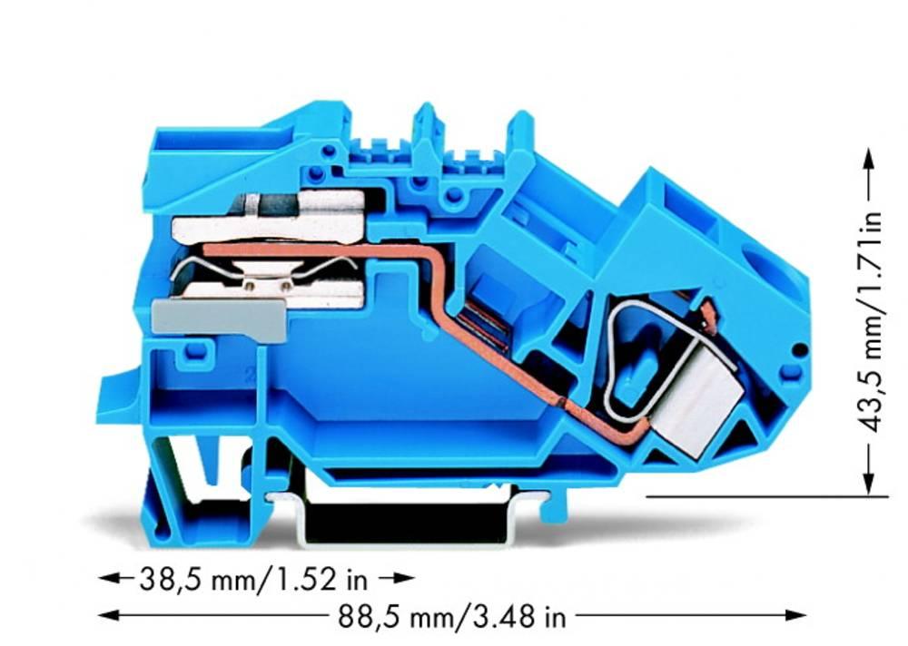Skilleklemme 12 mm Trækfjeder Belægning: N Blå WAGO 783-613 25 stk