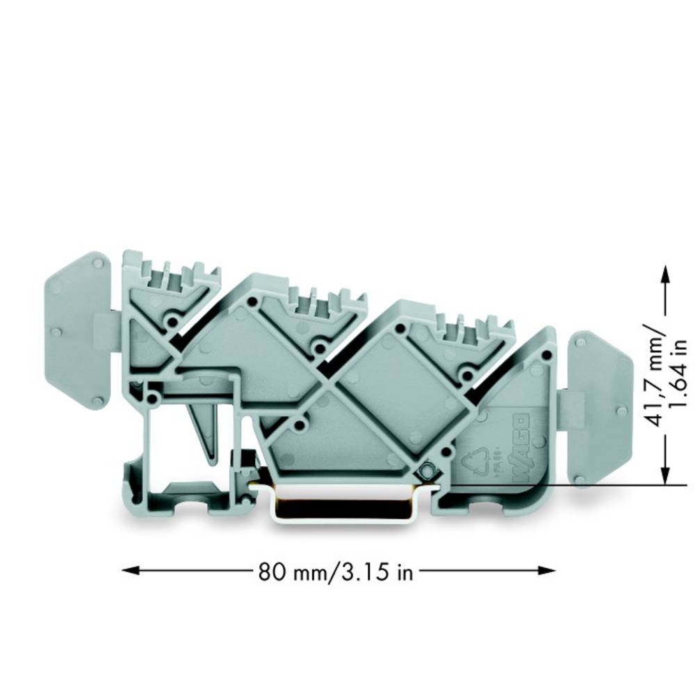 Isoleret samleskinne support WAGO 25 stk