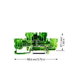 Dobbeltlags-beskyttelseslederklemme 5 mm Trækfjeder, Indstiks-klemme Belægning: Terre Grøn-gul WAGO 870-157 50 stk