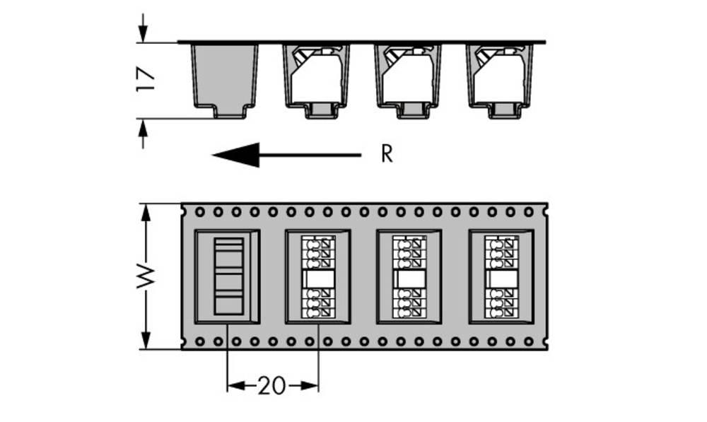 Fjederkraftsklemmeblok WAGO 1.50 mm² Poltal 3 Sort 160 stk