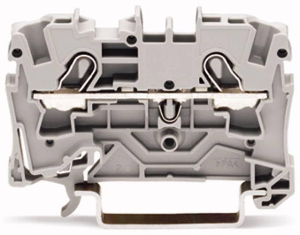 Gennemgangsklemme 6.20 mm Trækfjeder Rød WAGO 2004-1203 50 stk