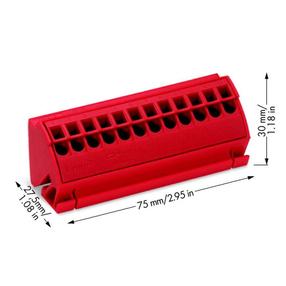 Klemrække 4 mm² WAGO 10 stk