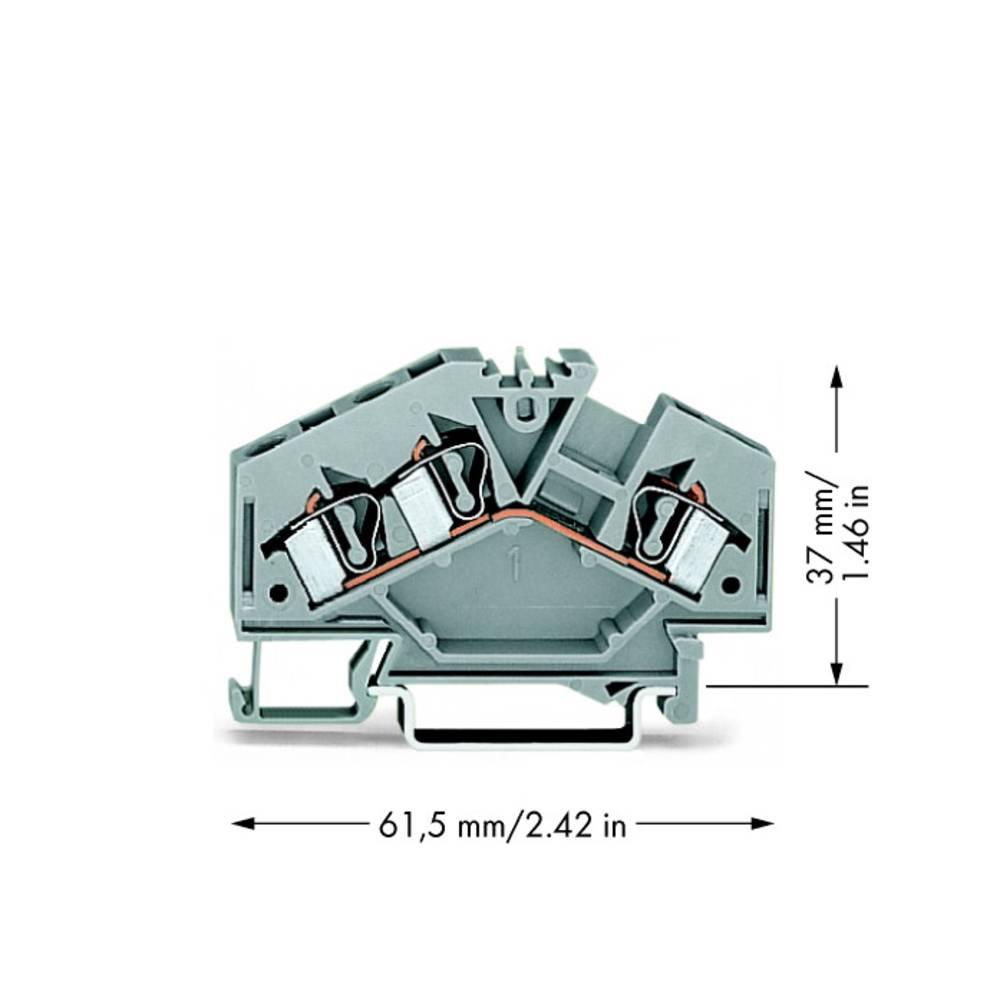 Gennemgangsklemme 6 mm Trækfjeder Belægning: L Grå WAGO 281-631 100 stk