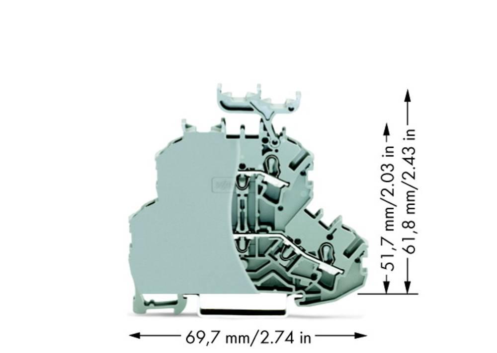 Dobbeltlags-gennemgangsklemme 6.20 mm Trækfjeder Belægning: L, L Grå WAGO 2002-2231/099-000 50 stk