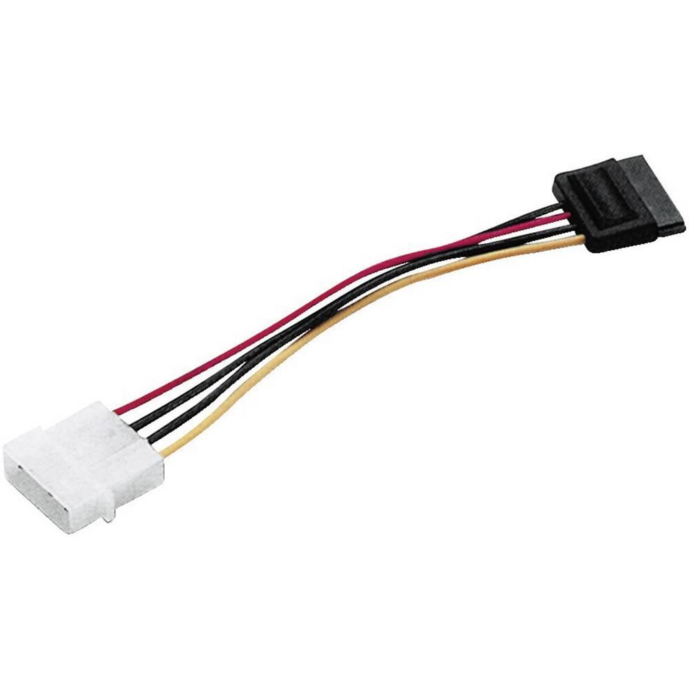 Current Cable [1x SATA plug 7-pin - 1x IDE power plug 4-pin] 0.20 m ...