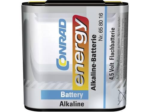Platte batterij (4,5V) Conrad energy 3LR12 Alkaline 4800 mAh 1 stuks