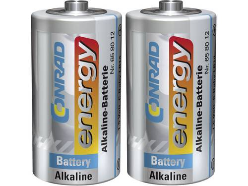 C batterij (baby) Conrad energy LR14 Alkaline 1.5 V 2 stuks