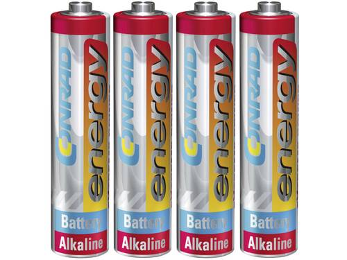 AAA batterij (potlood) Conrad energy Extreme Power LR03 Alkaline 1.5 V 4 stuks