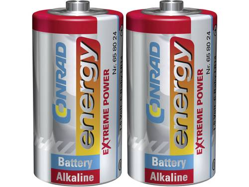 C batterij (baby) Conrad energy Extreme Power LR14 Alkaline 1.5 V 2 stuks