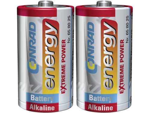 D batterij (mono) Conrad energy Extreme Power LR20 Alkaline 1.5 V 2 stuks