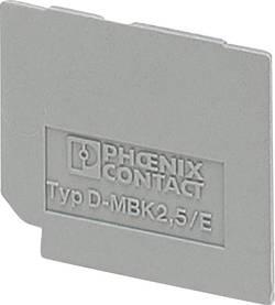 D-MBK 2,5/E - Afslutningsdæksel D-MBK 2,5/E Phoenix Contact Indhold: 1 stk