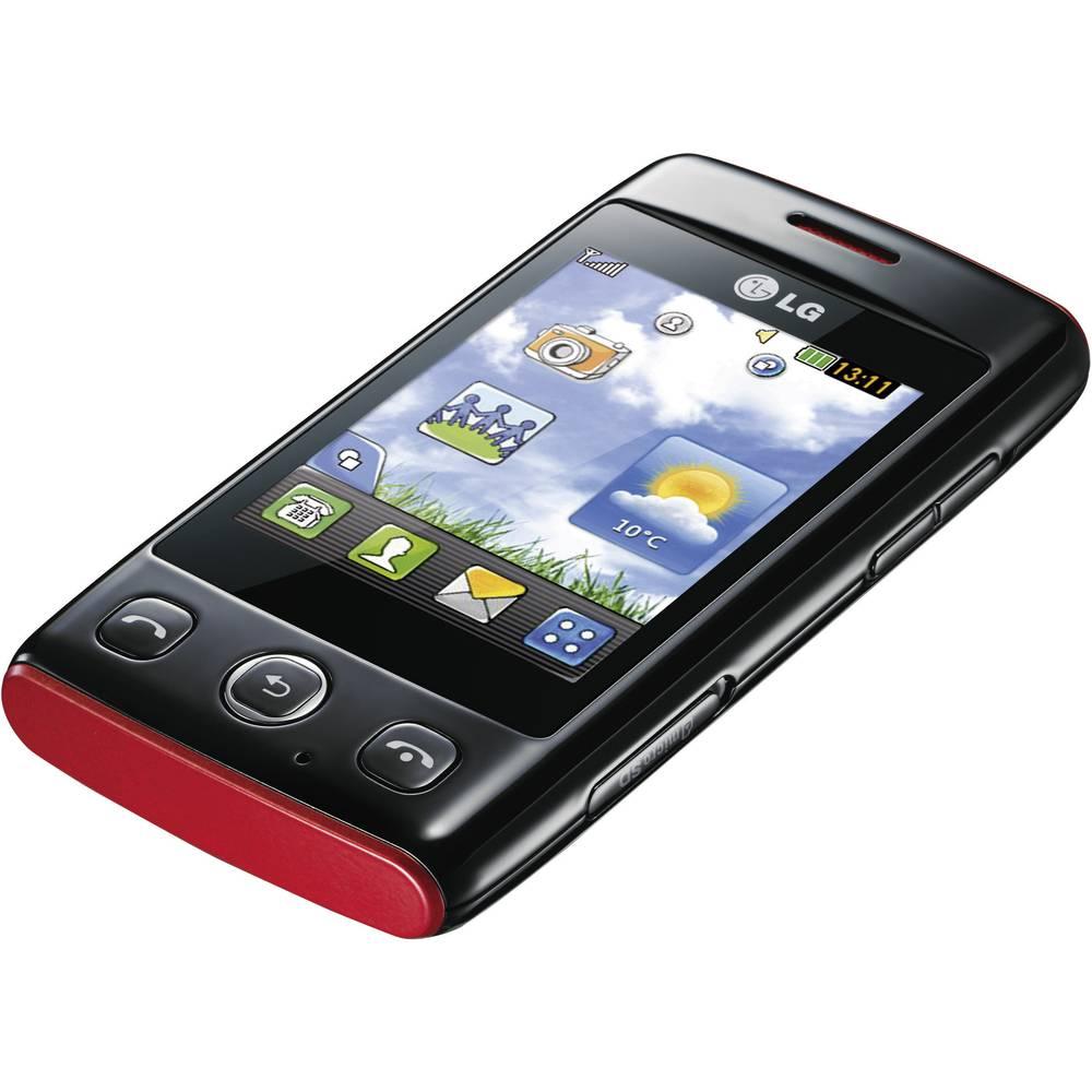 LG T300 COOKIE LITE BLACK/RED
