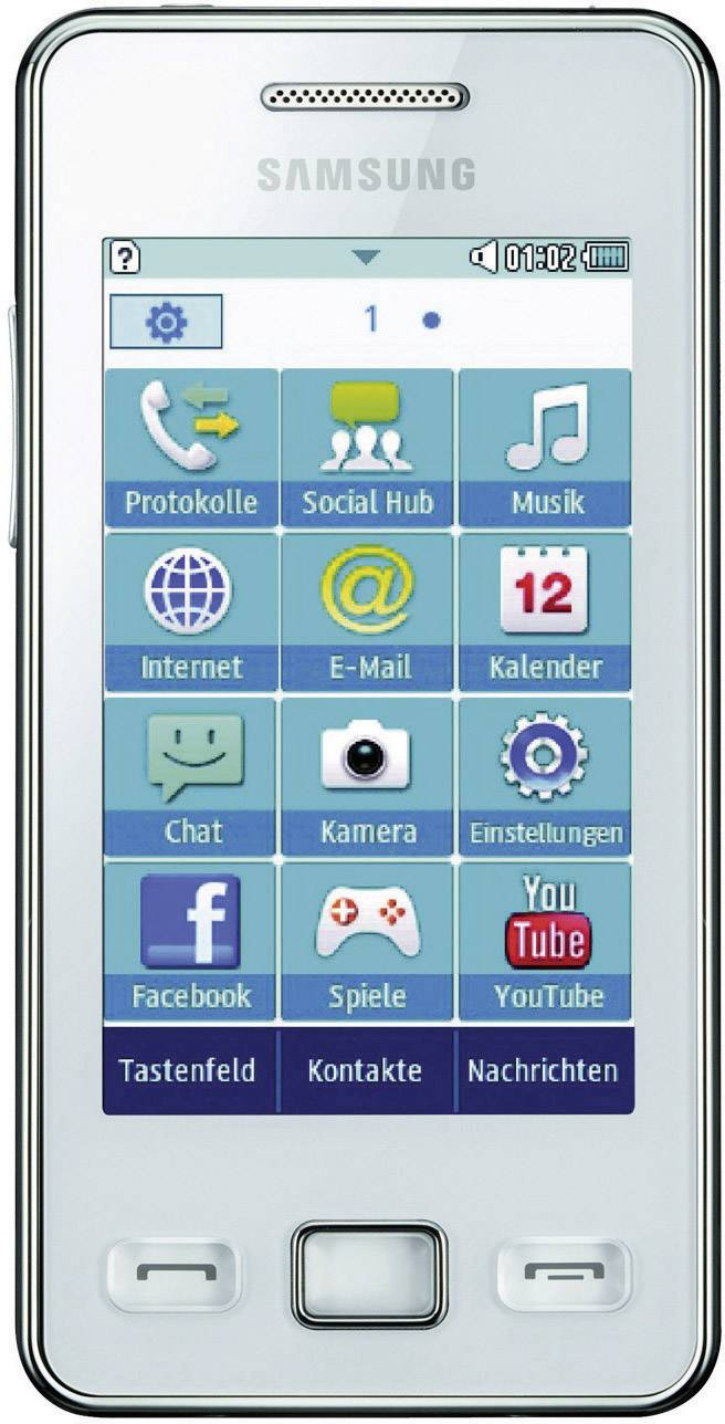 samsung star ii s5260 sim free smartphone from conrad com rh conrad com Samsung GT 19195 Year Samsung Star 2 Review
