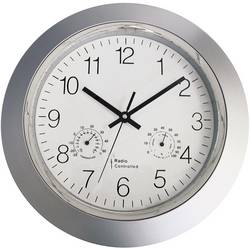56004 Radio Wall clock 34 cm x 5 cm Silver