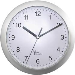56787 Radio Wall clock 25 cm x 3.8 cm Silver