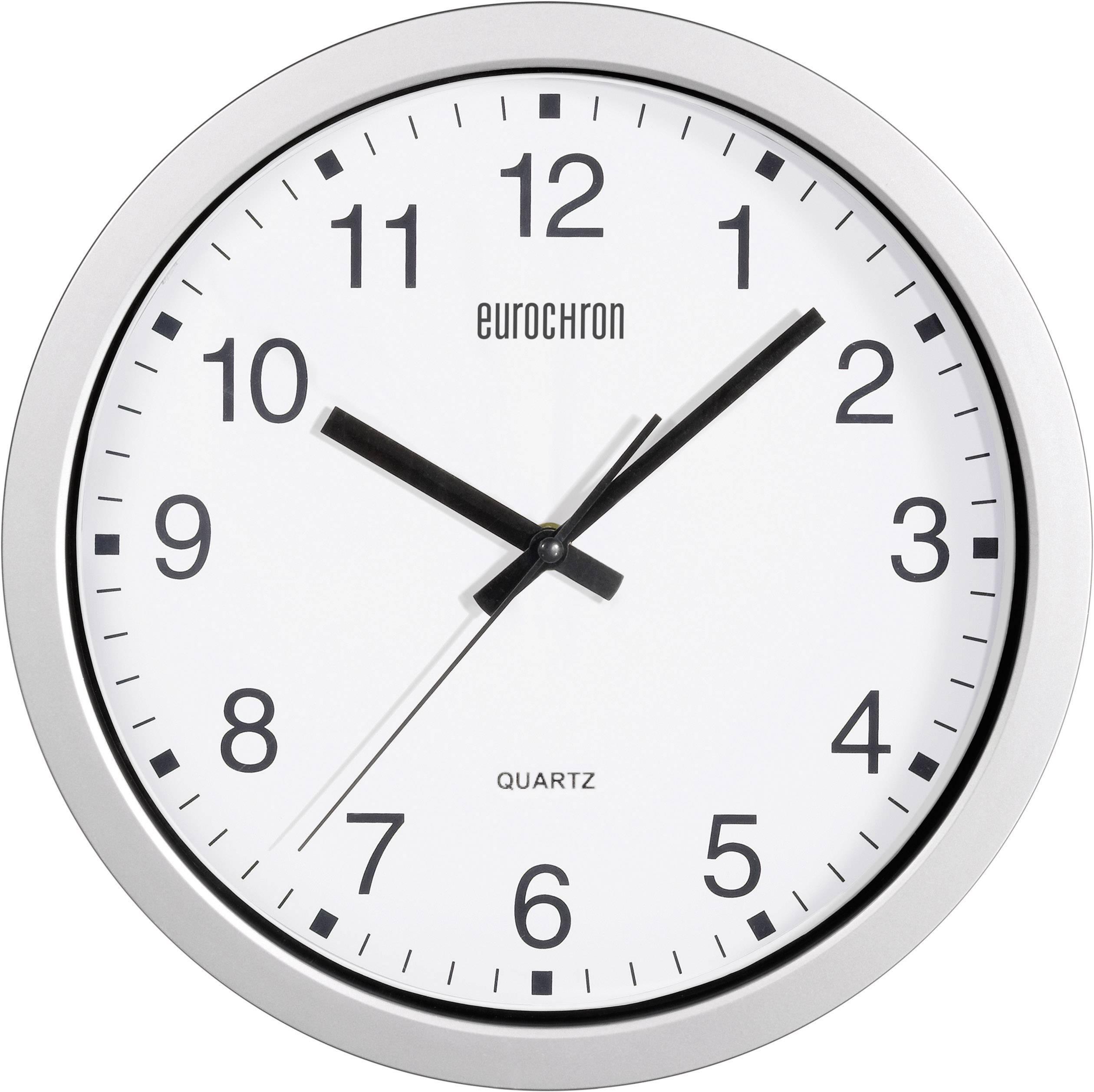 Eurochron A3199 Quartz Wall Clock 30 5 Cm X 3 8 Cm Silver Conrad Com