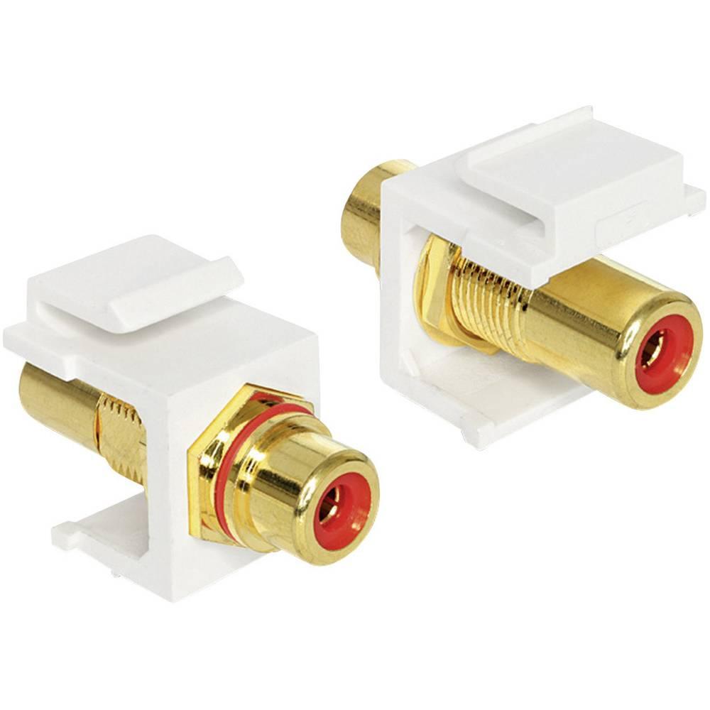 Činč audio adapter [1x činč, ženski/1x činč, ženski ], rdeč