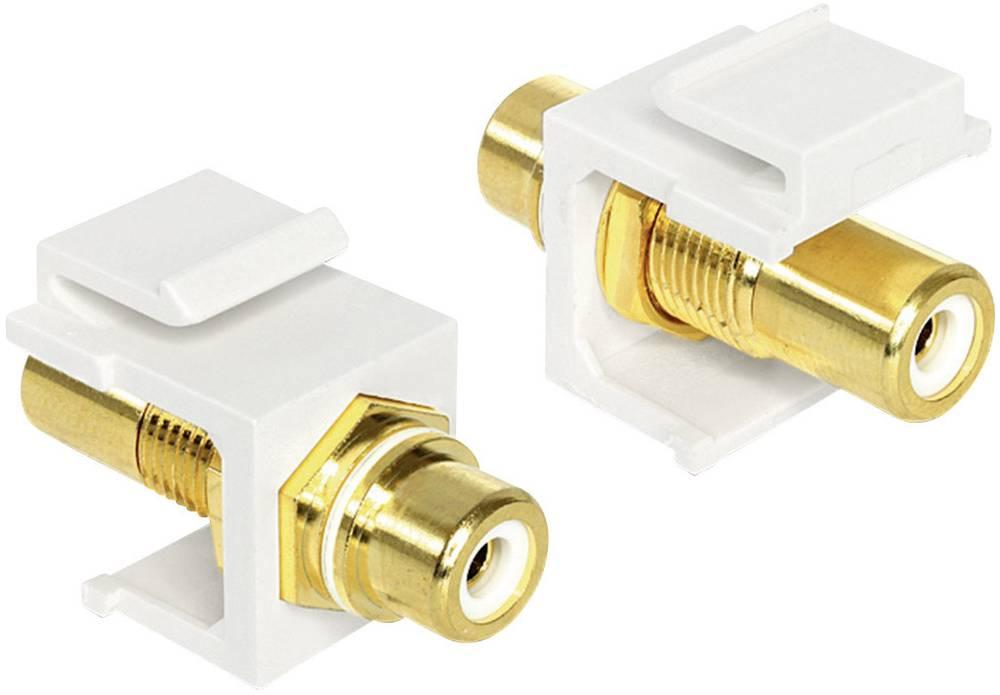 Činč audio adapter [1x činč, ženski/1x činč, ženski ], bel