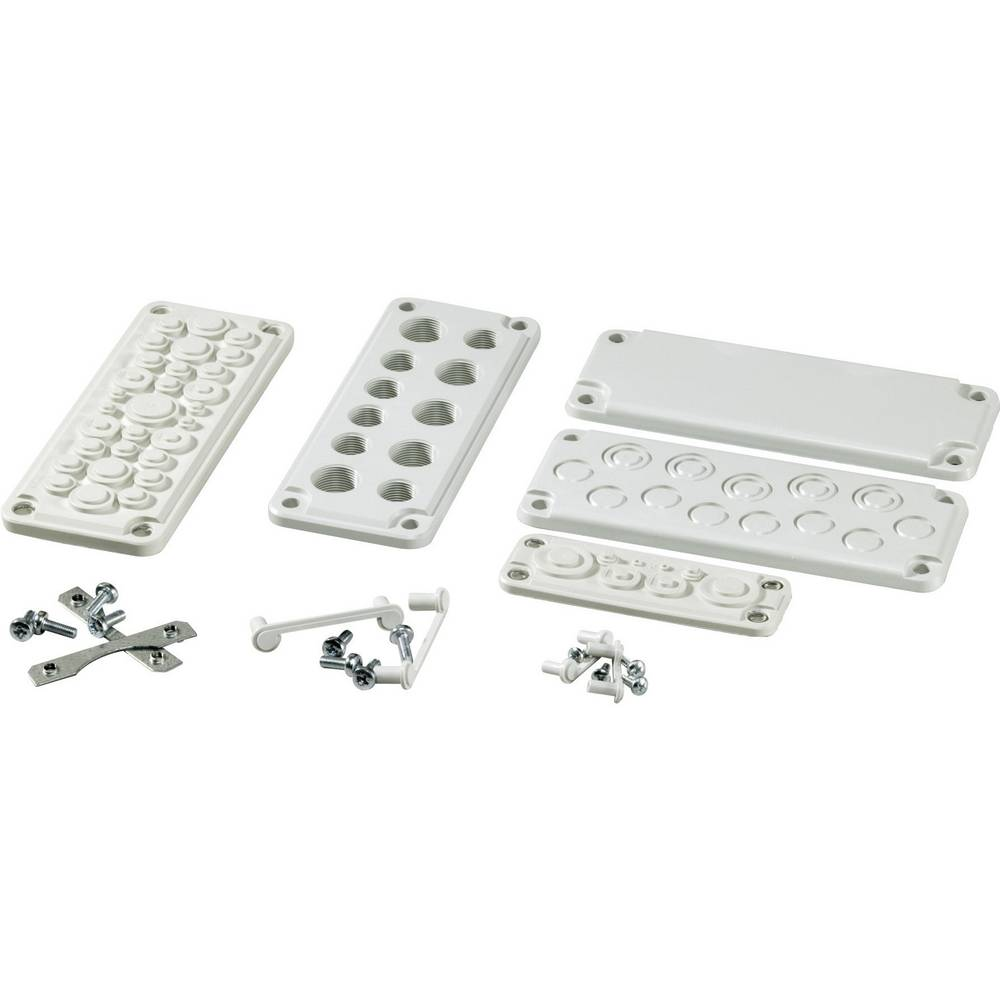 Uvodna plošča z vdolbinami polikarbonat svetlo siva (RAL 7035) Fibox MB 10892 SET 1 kos
