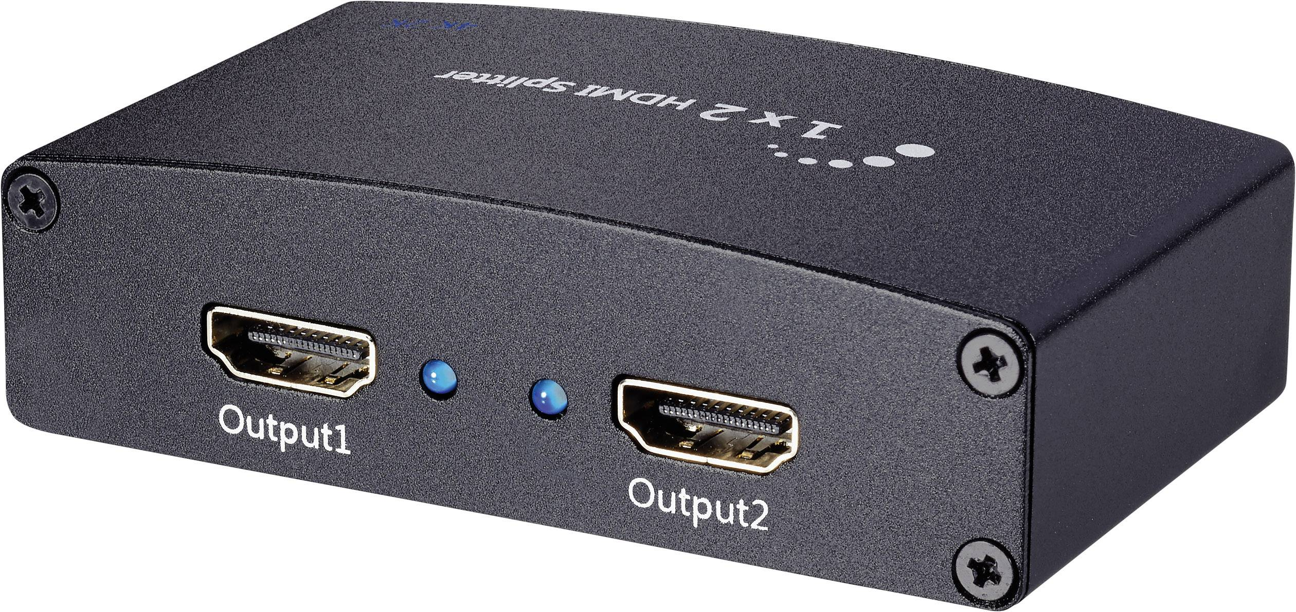 Inakustik 3247012 2 ports HDMI splitter + built-in repeater 1920 x