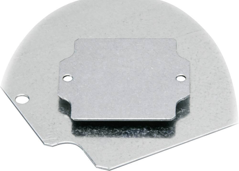 Monteringsplade Fibox EURONORD PM 0819 (L x B) 64 mm x 179 mm Stålplade 1 stk