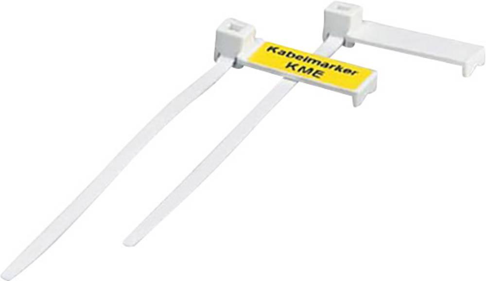 Označevalnik kablov, montaža: kabelska vezica, površina: 20 x 8 mm primeren za serijo posamezne žice, univerzalna uporaba, bele
