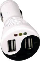 Adapter Cigarettænderstik til USB Profi Power USB-Ladegerät und Batterietester 12V/24V 12 V til 5 V, 24 V til 5 V 3.4 A