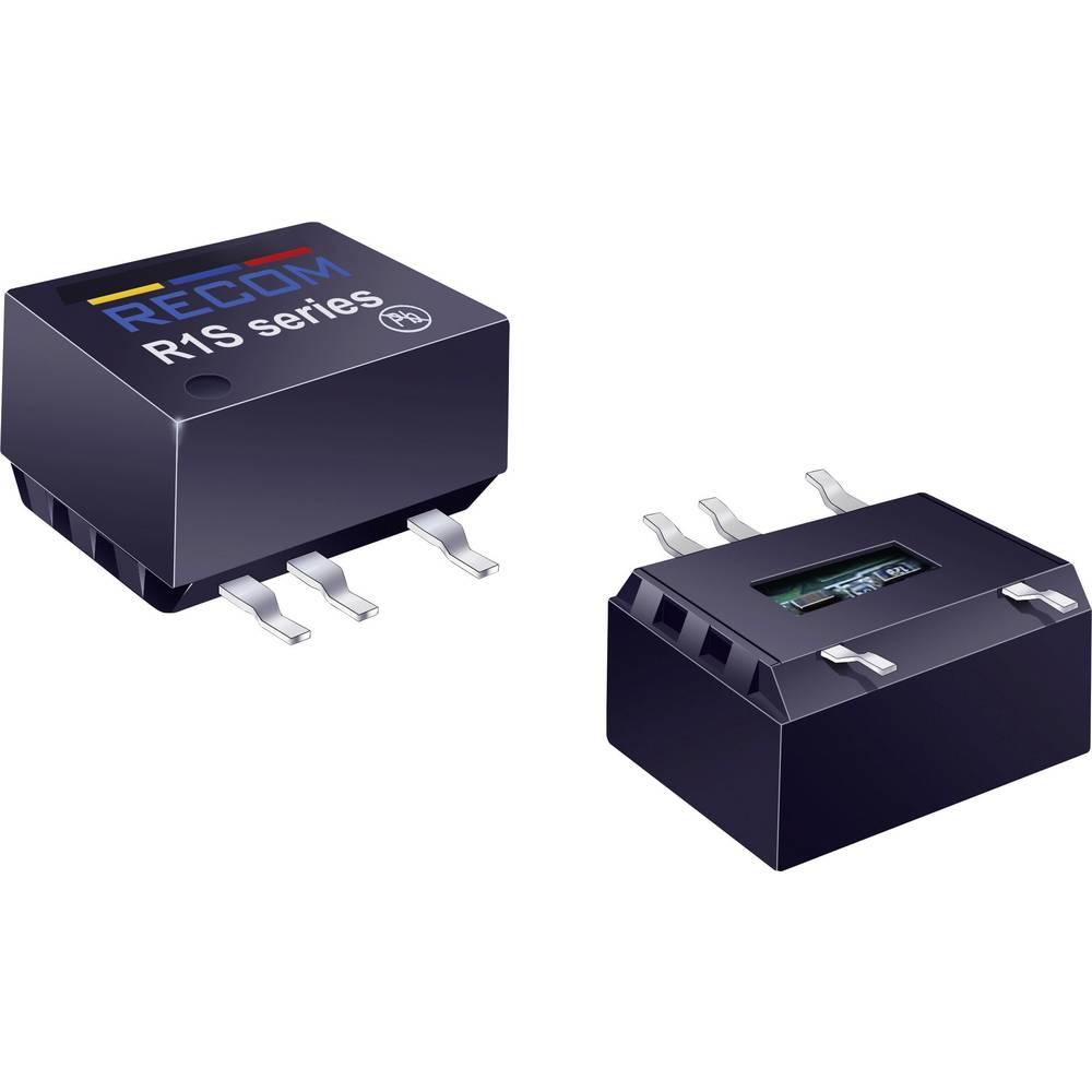 DC/DC pretvornik SMD RECOM R1S-0505/HP 5 V/DC 5 V/DC 200 mA 1 W št. izhodov: 1 x