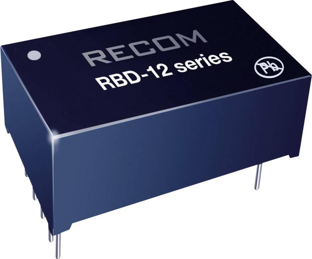 LED-driver 36 V/DC 350 mA Recom Lighting RBD-12-0.35/W