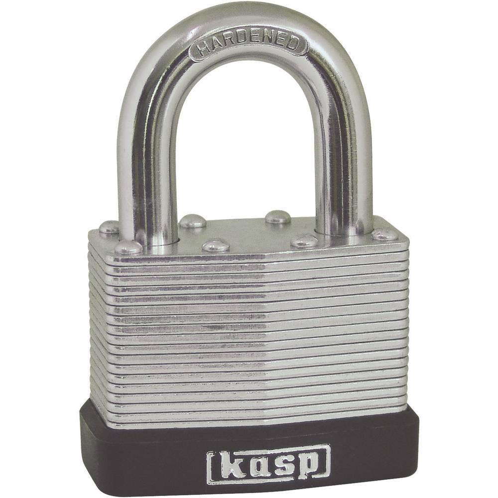 padlock 40 mm kasp k13040 silver key from conrad com