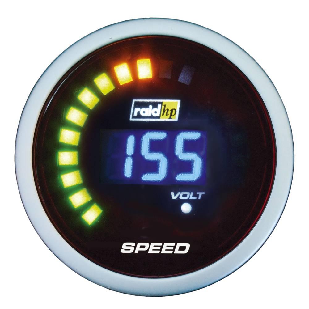 Bil indbygningsinstrument Speedometer raid hp 660509 NightFlight Digital Blue Blå, Hvid 52 mm