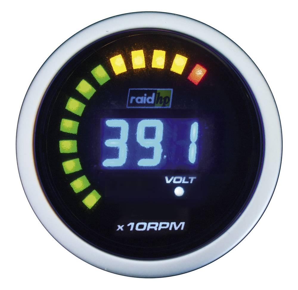 Bil indbygningsinstrument Omdrejningsmåler benzin- og dieselmotor måleområde 0 - 6000 rpm raid hp 660512 NightFlight Digital Blu