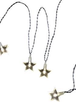 Motiv-lyskæde Polarlite Stjerner 20 LED Varm hvid 10.7 m Indvendigt via strømdrift