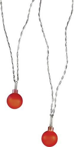 Motiv-lyskæde Polarlite Kugler 20 LED Rød 10.7 m Indvendigt via strømdrift