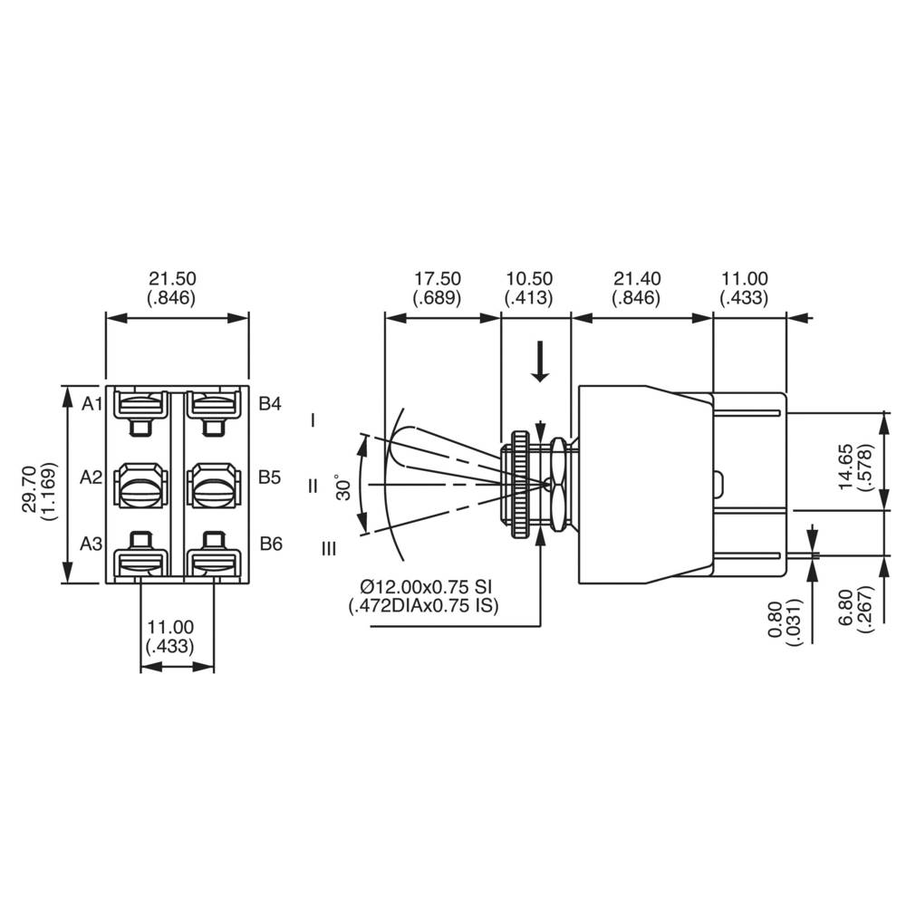 Apem 647h 2 6473676 Toggle Switch 250 V Ac 10 A X On Off Wiring Diagram 24 Volts Momentary 0 1 Pcs