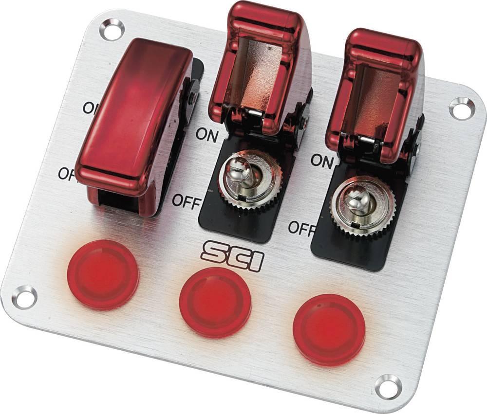 SCI Avtomobilska upravljalna plošča, 20 A R18-P3A 2 x vklop/izklop zaskočno/zaskočno