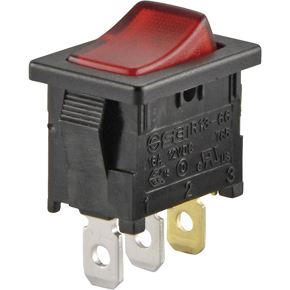 Sci Toggle Switch R13 66b 02 Led 12v Dc 12 Vdc 16 A 1 X Off On Latch 12vdc Wiring Diagram
