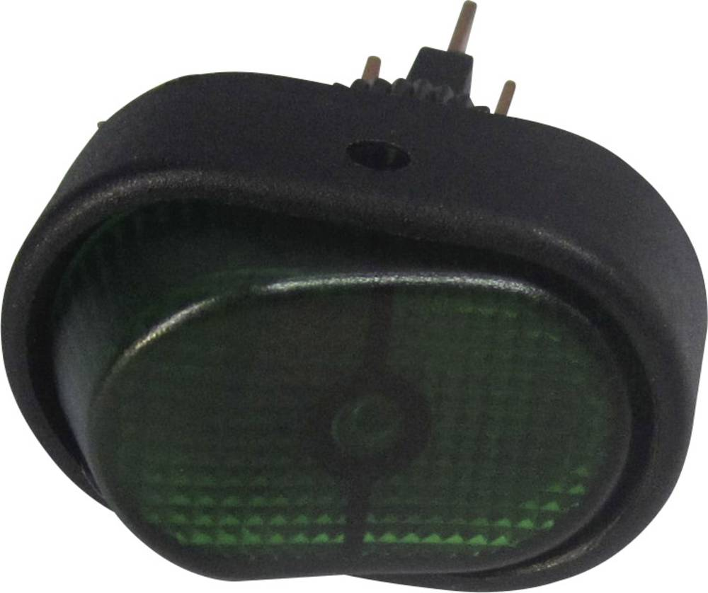 Bil-vippekontakt TRU COMPONENTS TC-R13-133B-SQ GREEN 12 V/DC 30 A 1 x Off/On Klikkende 1 stk